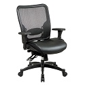 Click here for more Breathable Mesh Back Chair w/ Leather Seat by Office Star by Worthington