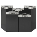 Trifecta Metal Trash Receptacles by Safco