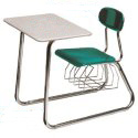Solid Plastic Double Entry Desks by Scholar Craft