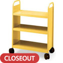 3 Flat Shelf Booktruck by Smith System