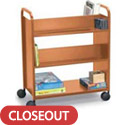 Click here for more Double Sided Booktruck with 4 Sloping Shelves by Smith System by Worthington