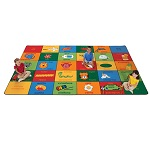 Click here for more Bilingual Alphabet Blocks by Carpets for Kids by Worthington