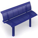 Click here for more Richmond Steel Outdoor Bench with Back by UltraPlay by Worthington