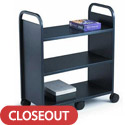 Gorilla Booktruck with 3 Flat Shelves by Smith System