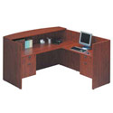 Bow Front Desk with Reception Counter by NDI Office Furniture