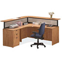 Reception Office Desk Suite PLB9 by NDI Office Furniture