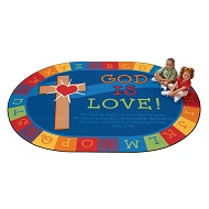 Click here for more God is Love Learning Rug by Carpets for Kids by Worthington