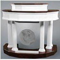 Click here for more 8300 Series Pulpit w/ Plexiglass Front by Trinity by Worthington