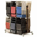 Click here for more Double Tier Folding Chair Caddies by NPS by Worthington