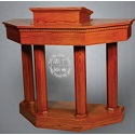 Click here for more 8400 Series Pulpit w/ Plexiglass Front by Trinity by Worthington