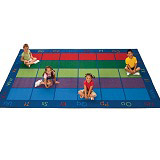 Colorful Places Seating Rug by Carpets for Kids