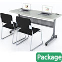 Click here for more Plastic Flip-n-Store Table & Chair Package by National Public Seating by Worthington