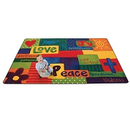 Click here for more Spiritual Fruit Painted Rug by Carpets for Kids by Worthington