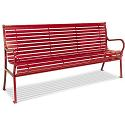 Hamilton Horizontal Slat Outdoor Benches by UltraPlay