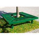 Geometric Mall Bench by UltraPlay