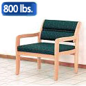 Dakota Wave Bariatric Seating Standard Leg by Wooden Mallet