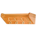 Oak Hook and Peg Coat and Hat Wall Racks by Wooden Mallet