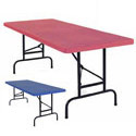 Click here for more American Colors Adjustable Height Plastic Folding Tables by NPS by Worthington