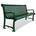 Charleston Outdoor Benches with Back by UltraPlay