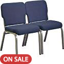 1000 Series Wing Back Stack Chairs by KFI