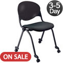 Padded Stack Chair with Casters by KFI