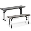 Hexalite ABS Plastic Folding Seminar Tables by Midwest