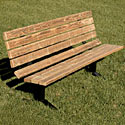 Pressure Treated Wood & Steel Outdoor Bench by UltraPlay