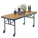 Mobile Folding Utility Table by Midwest