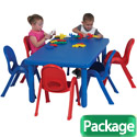 MyValue Set 6 Preschool Table & Chair Set by Angeles