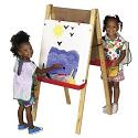 Click here for more Adjustable Easel w/ Chalkboard & Dry Erase Board by ECR4Kids by Worthington