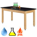 Click here for more Epoxy Adjustable Wooden Leg Science Tables by Diversified by Worthington