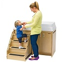 Click here for more Changing Table with Locking Stairs by Angeles by Worthington