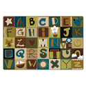 Alphabet Blocks - Nature's Colors by Carpets for Kids