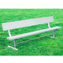 Click here for more Aluminum & Steel Outdoor Bench w/ Back by UltraPlay by Worthington