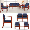 Amherst Open Arm Series Reception Seating by Lesro