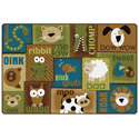 Animal Sounds KIDSoft Rugs - Nature's Colors by Carpets for Kids