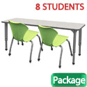 Click here for more Classroom Set- 4 Double Apex Desks & 8 Chairs by Marco Group by Worthington