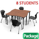 Click here for more Classroom Set- 8 Dog Bone Apex Desks & Chairs by Marco Group by Worthington