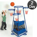 Click here for more 4-Ring Basketball Stand by The Children's Factory by Worthington