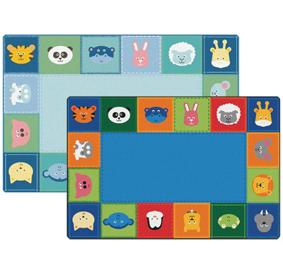 Baby Animals Border KIDSoft Rugs by Carpets for Kids