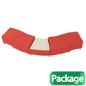 Click here for more Lounge B Squiggle Modular Soft Seating Package by Balt by Worthington