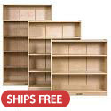 Classic Birch Bookcases by ECR4Kids