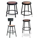 Black Frame Steel Stools by National Public Seating
