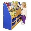 Colorful Essentials Book Display w/ Storage by ECR4Kids