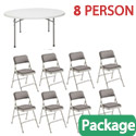 Click here for more Folding Table & Padded Folding Chair Package by National Public Seating by Worthington