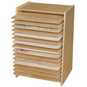Click here for more Contender Series Mobile Paper Drying & Stroage Rack by Wood Designs by Worthington