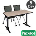 Click here for more Cain Base Training Table & Apprentice Chairs by Regency by Worthington