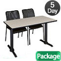 Click here for more Cain Base Training Table & Mario Chairs by Regency by Worthington