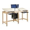 Click here for more Two-Station CPU Drafting Table by Shain by Worthington