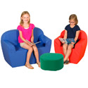 "Click here for more 12"" Club Furniture Soft Seating Set by The Children's Factory by Worthington"